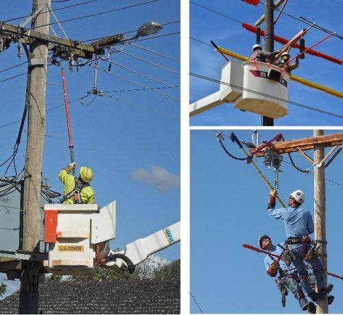 Trabajos proteccion electrica con pertigas